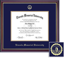 Framing Success Windsor Diploma Frame, Dbl Mat, High Gloss Cherry Finish,Gold Inner Bevel. Masters