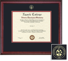 Framing Success Classic Diploma Frame , Double Mat in a Rich Burnished Cherry Finish. BA
