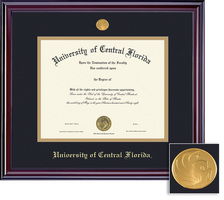 Framing Success Elite Diploma Frame, in Gloss Cherry Finish Double Matted. Bachelors
