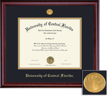 Framing Success Classic Double Matted Diploma Frame in a Burnished Cherry Finish. Masters