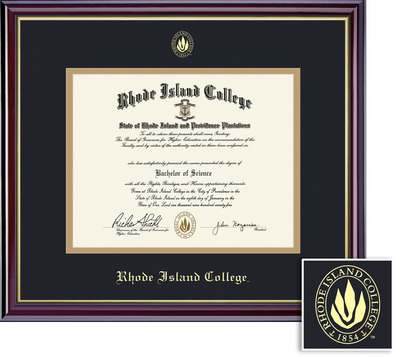 Framing Success Windsor Diploma, Double Mat in a high gloss cherry finish with a gold inner bevel