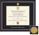 Framing Success Prestige Mdl Diploma, Dbl Mat in a satin black finish with beautiful gold accents