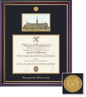 Framing Success Windsor Mdl DipLitho, Dbl Mat in a high gloss cherry finish with gold inner bevel