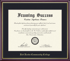 Academic Diploma with Dark Black Single Mat