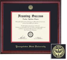 Framing Success PhD Classic Diploma Frame, Double Mat in a Rich Burnished Cherry Finish