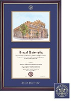 Framing Success Windsor DiplomaLitho Frame BlueGold Matted Diploma Frame
