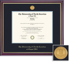 Framing Success Windsor Medallion Diploma, Double Mat HighGloss Cherry Finish Gold Inner Bevel