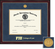 Framing Success Sienna Law Diploma, Dbl Mat in a cherry finish w black trim  decorative gold beading