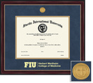 Framing Success Sienna MD Diploma, Dbl Mat in a cherry finish w black trim  decorative gold beading