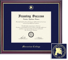 Framing Success Windsor Diploma, Double Mat in a HighGloss Cherry Finish with Gold Inner Bevel
