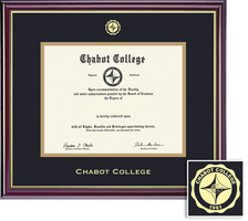Framing Success Classic Diploma, Double Mat in HighGloss Cherry Finish with a Gold Inner Bevel