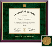 Framing Success Windsor Moulding Diploma, Double Mat High Gloss Cherry Finish with Gold Inner Bevel