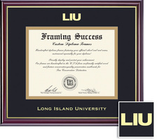 Framing Success Windsor Diploma, Double Mat in highgloss cherry finish with gold inner bevel