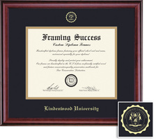 Framing Success Classic MA Diploma, Double Mat Rich Burnished Cherry Finish