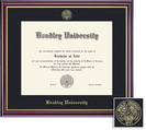 Framing Success Windsor Diploma, Single Mat High Gloss Cherry Finish with Gold Inner Bevel