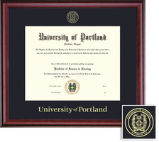 Framing Success Diploma, Single Mat in Rich Burnished Cherry Finish