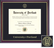 Framing Success Diploma, Single Mat in High Gloss Cherry Finish with Gold Inner Bevel