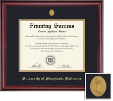 Framing Success Classic Diploma, Double Mat in Rich Burnished Cherry Finish. Spring 2017 to Present