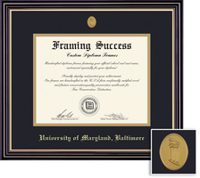 Framing Success Prestige Diploma, Double Mat Satin Black Finish Gold Accents. Spring 2017 to Present