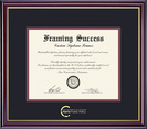 Framing Success Windsor Pub Policy Diploma, Double Mat High Gloss Cherry Finish Gold Inner Bevel