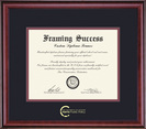 Framing Success Classic Pub Policy Diploma, Double Mat Rich Burnished Cherry Finish