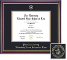 Framing Success Windsor Law Diploma, Double Mat in a highgloss cherry finish with gold inner bevel