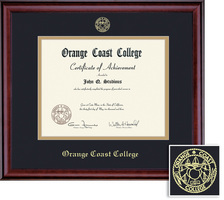 Framing Success Classic Associate Diploma, Double Mat in a rich Burnished Cherry Finish
