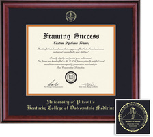Framing Success Classic MD Diploma, Double Matted in a Rich Burnished Cherry Finish