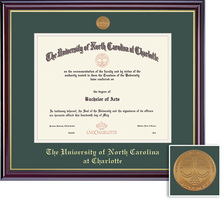 Framing Success Windsor Diploma, Double Mat in a high gloss cherry finish with gold inner bevel