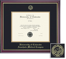 Framing Success Windsor Diploma, Double Mat in a highgloss cherry finish with a gold inner bevel
