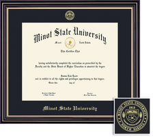 Framing Success Prestige Bachelors Diploma frame, Matte Black finish with gold inner bevel