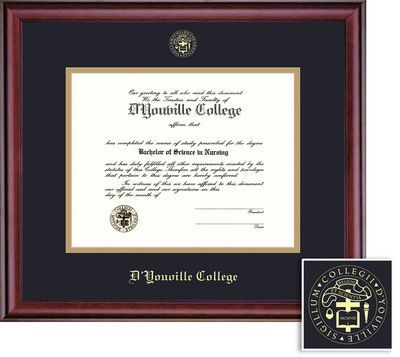 Framing Success Classic BAMA Diploma, Double Mat in a rich burnishedcherry finish