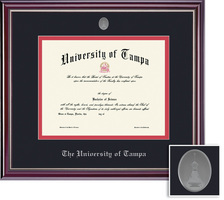 Framing Success Jefferson Mdl Diploma, Double Mat high gloss cherry finish with silver inner bevel