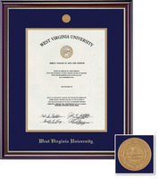 Framing Success Windsor Medallion Diploma, Double Mat high gloss cherry finish gold inner bevel