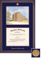 Framing Success Windsor BA,MA Dip & Litho Mdl, Dbl Mat in highgloss cherry finish with a gold bevel