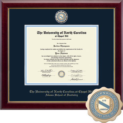 Church Hill Classics Masterpiece Diploma Frame. Adams School of Dentistry (Online Only)
