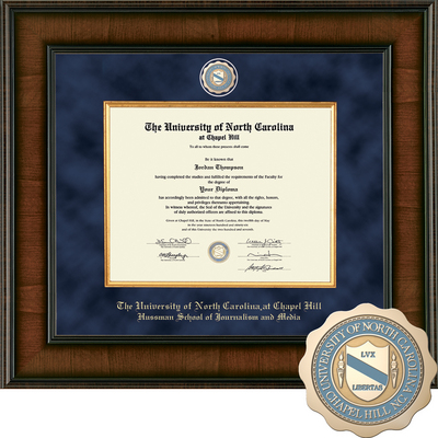 Church Hill Classics Presidential Diploma Frame.  Hussman School of Journalism (Online Only)