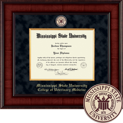 Church Hill Classics Presidential Diploma Frame.  Veterinary (Online Only)