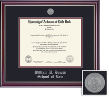 Framing Success Jeff Law Mdl Dip, Dbl Mat in highgloss cherry finish w silver inner bevel