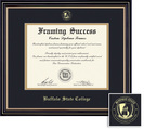 Framing Success Prestige Diploma, Double Mat in a satin black finish with beautiful gold accents