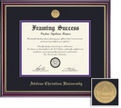 Framing Success Windsor Medallion Diploma, Double Mat high gloss cherry gold inner bevel