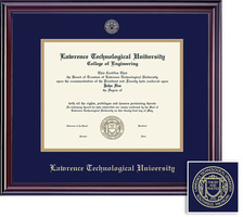 Framing Success Elite BA Diploma, Double Mat in a lustrous cherry finish with a highgloss coating
