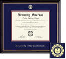 Framing Success Prestige MA, Dbl Mat in satin black finish with beautiful gold accents