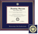 Framing Success Windsor MA, Dbl Mat in high gloss cherry finish with gold inner bevel