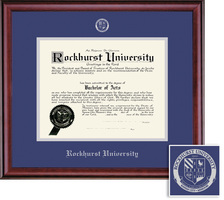 Framing Success Classic (2018pres) Diploma, Dbl Mat in rich burnishedcherry finish
