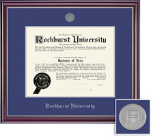Framing Success Jefferson (2018pres) Diploma, Double Mat highgloss cherry finish silver inner bevel