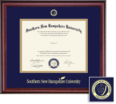 Framing Success Classic BAMA (218pres) Diploma Frame, Dbl Mat in a burnishedcherry finish