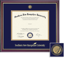 Framing Success Windsor BAMA (218pres) Mdl Diploma Frame, Double Mat cherry gold inner bevel