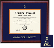 Framing Success Classic BAMA Diploma, Double Mat in rich burnishedcherry finish