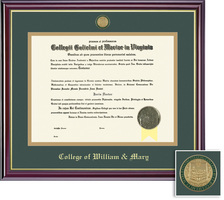 Framing Success Windsor BAMA (318Pres) Medallion Diploma Frame, Double Mat cherry finish gold